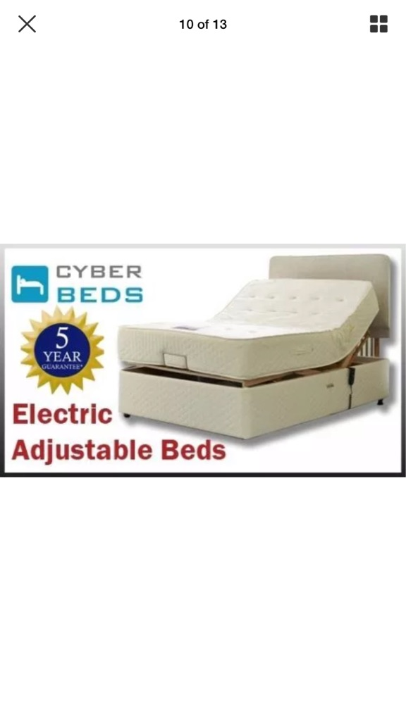 Electric reclining double bed