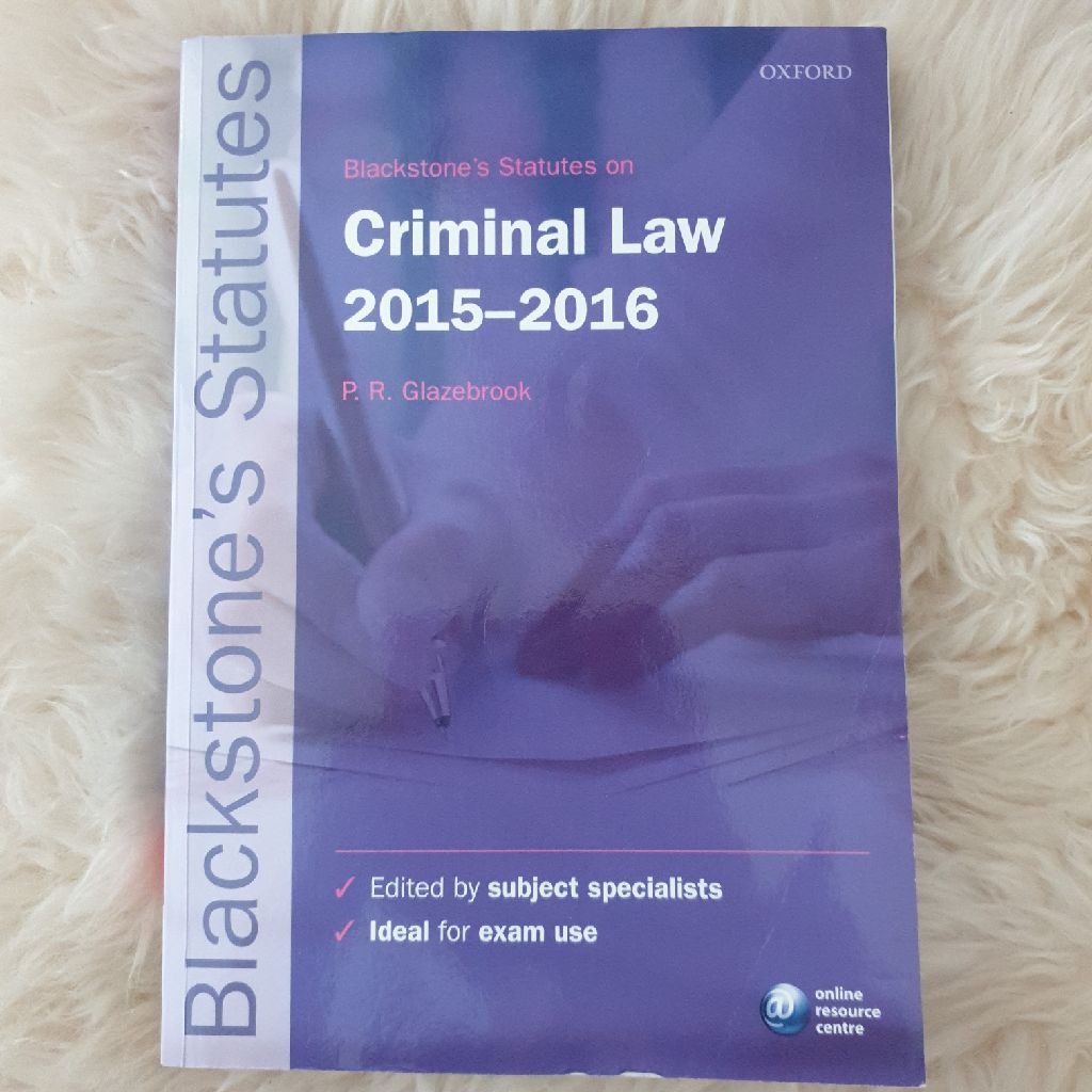 Criminal law statute book