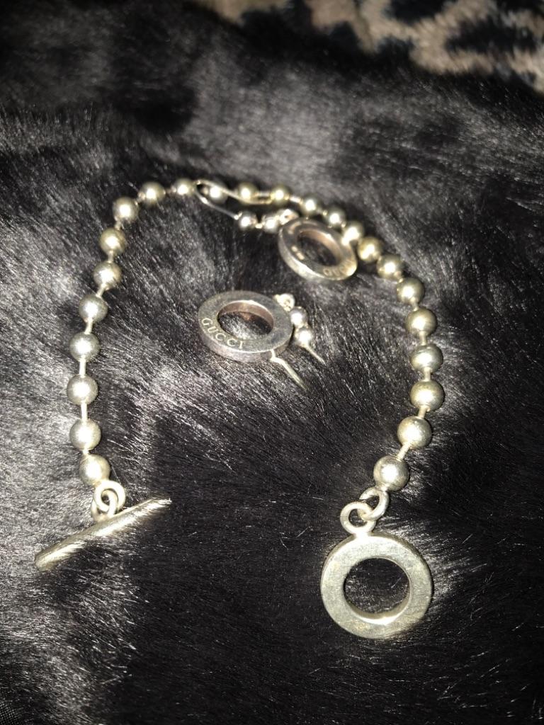 Genuine Gucci earrings and bracelet