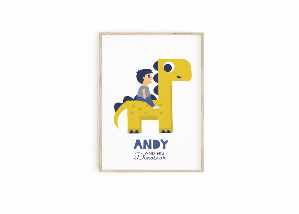 Personalised Dinosaur Print for Kids - Gifts for Kids