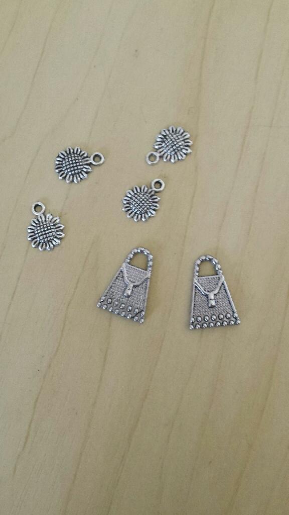 Tibetan silver charms