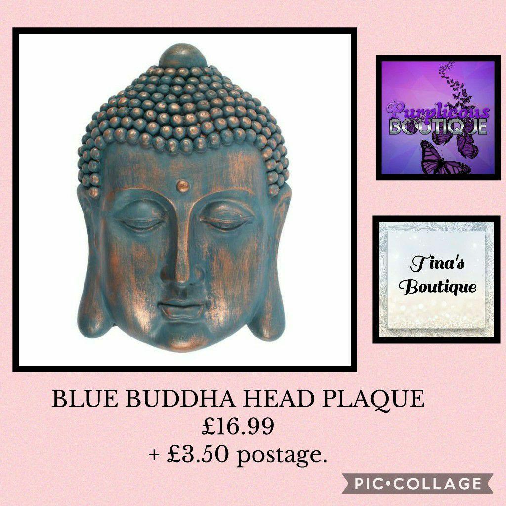 BLUE BUDDHA HEAD PLAQUE