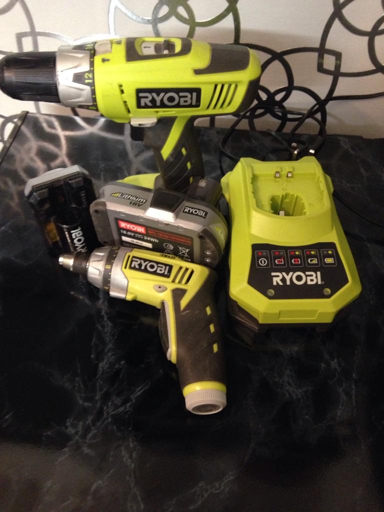 18v Ryobi drill and electric screwdriver REDUCED