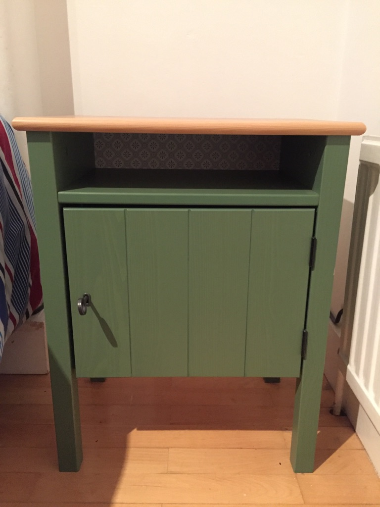 Ikea Pine Wood Bedside Table