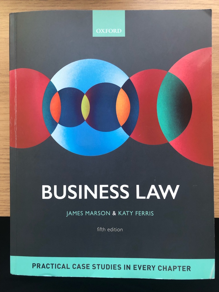 Business Law book by James Marson and Katy Ferris