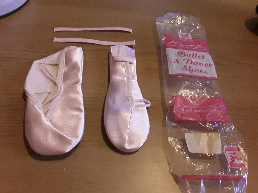 Silk ballet shoes