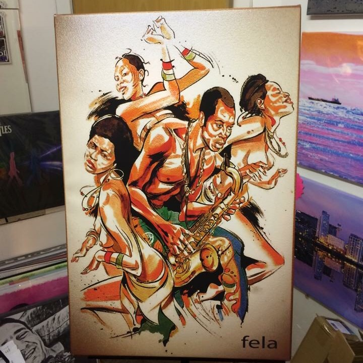 Fela Kuti Canvas Wall Hanging ready to display