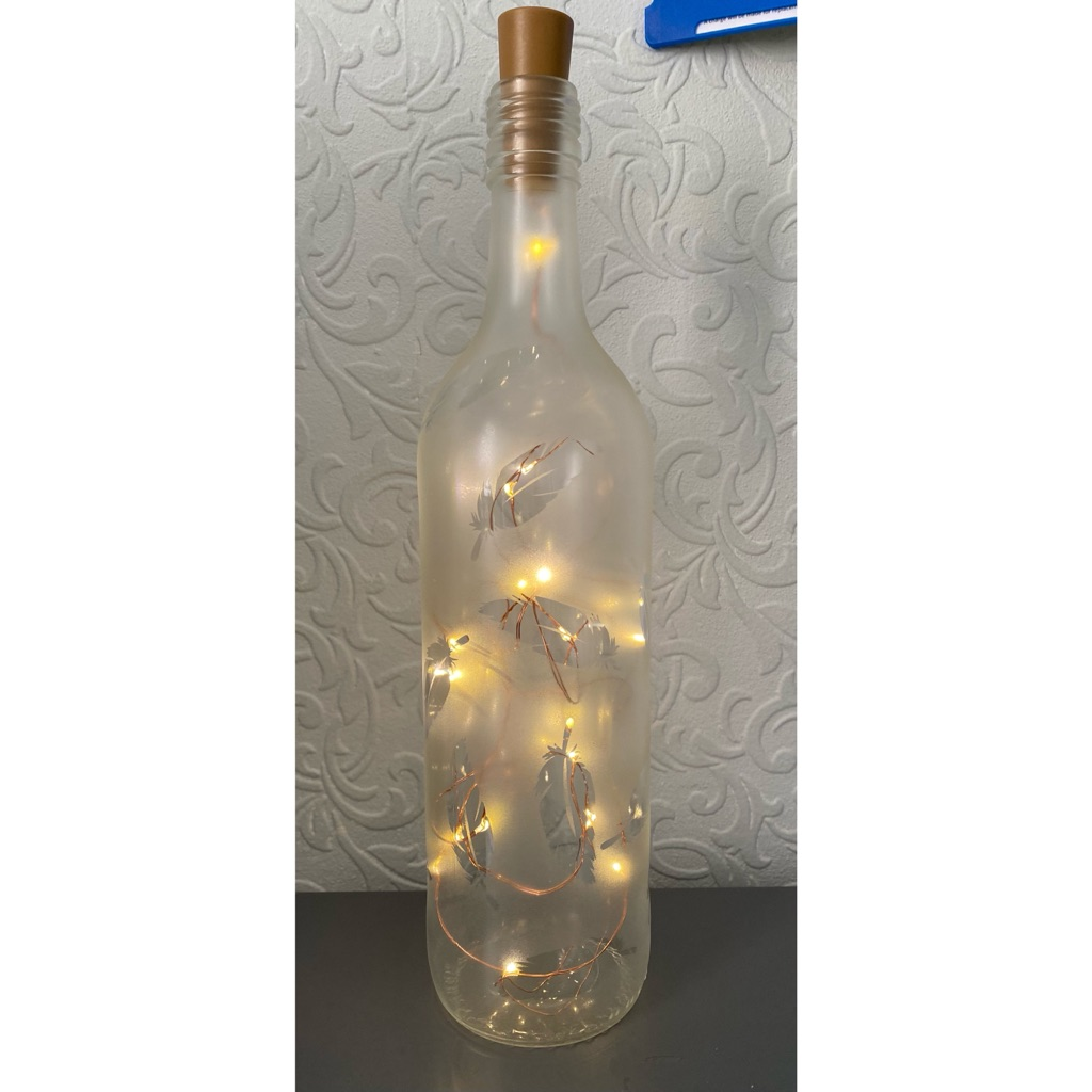 Feather light up bottle