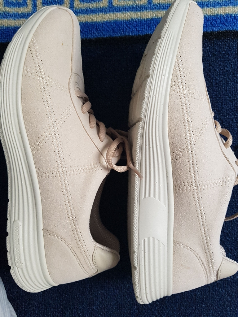 Hotter Memorise lace up Beige Shoes/Trainers