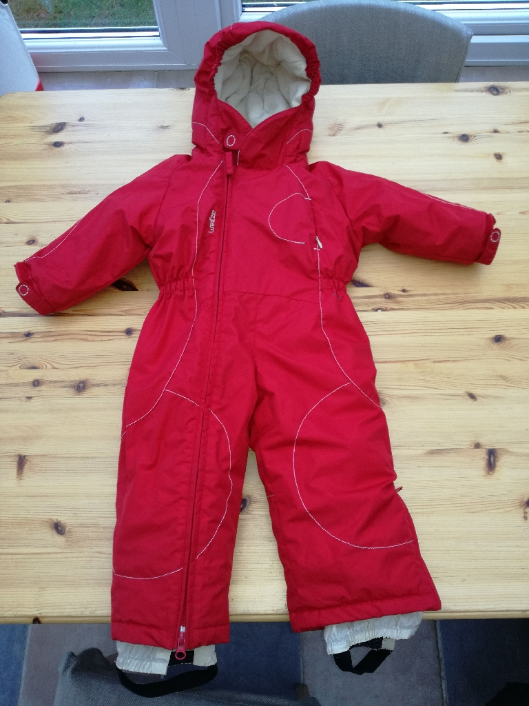 DECATHLON (WED'ZE) WARM BABY SNOW SUIT for 2 year olds