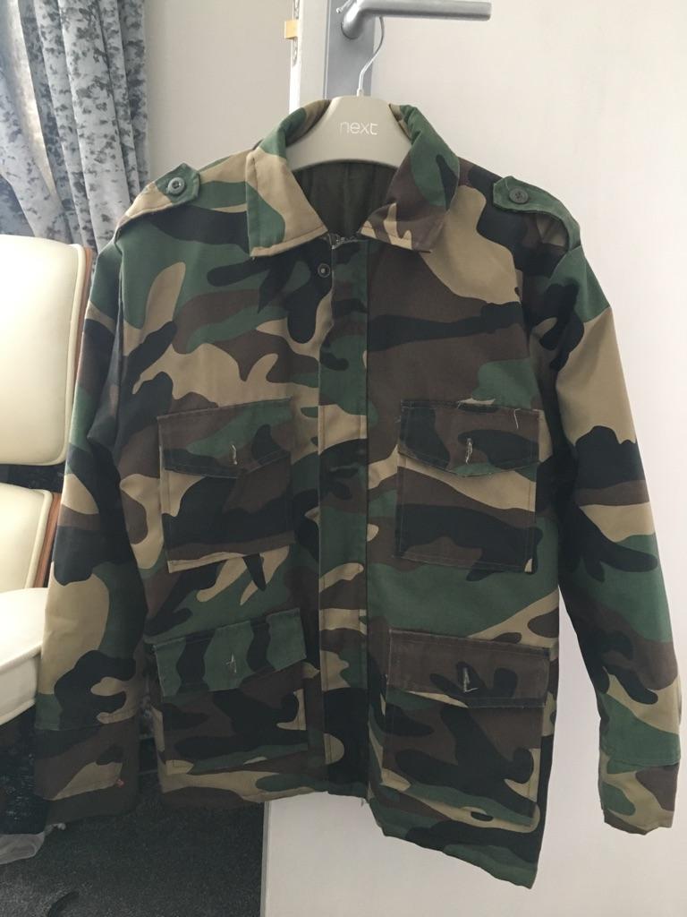 Boys army camouflage jacket, age 8-9