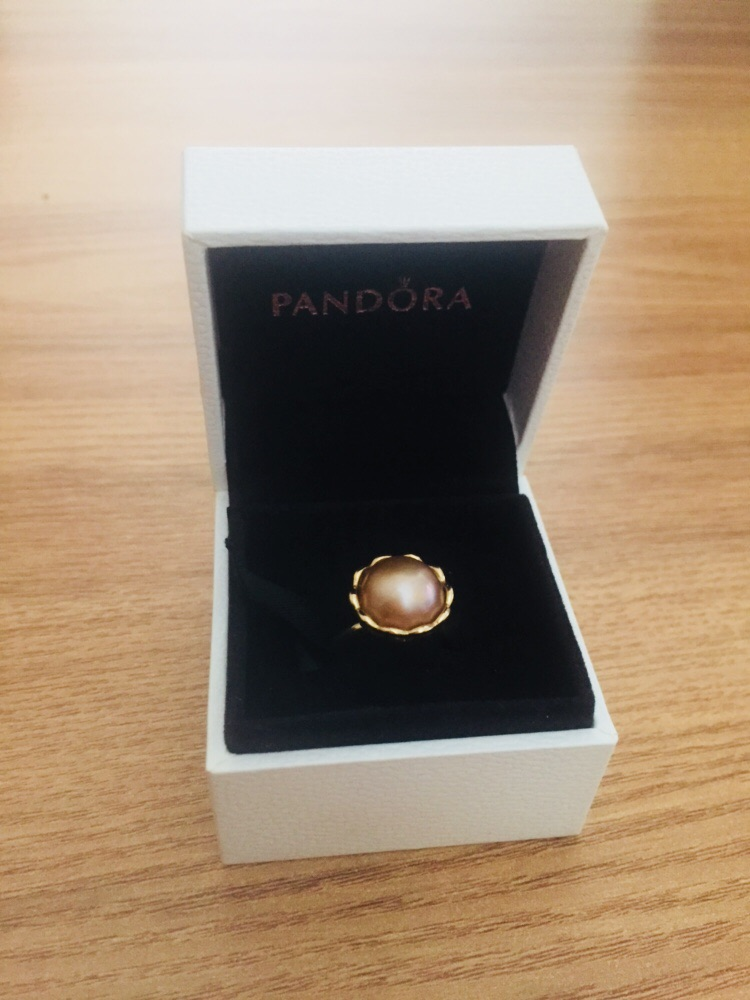 Pandora 150167PGO Genuine ALE 585 14k Gold Ring With Grand Mabe Pearl Size 55 OPEN TO OFFERS
