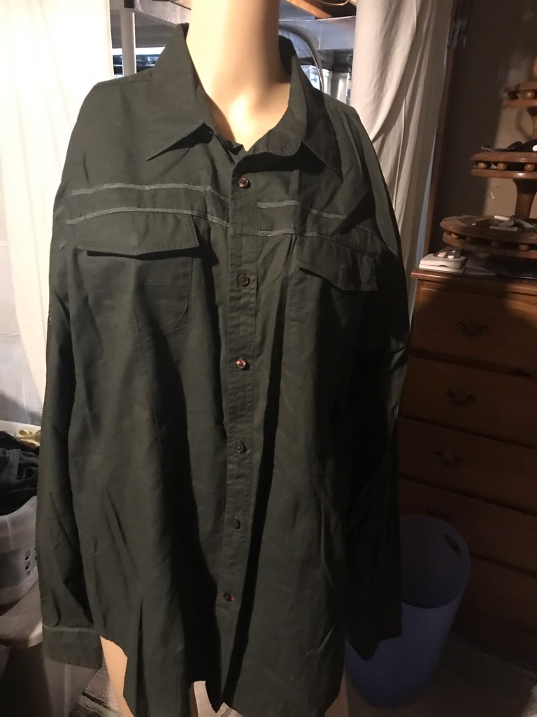 Guess Dark Green Dress Shirt