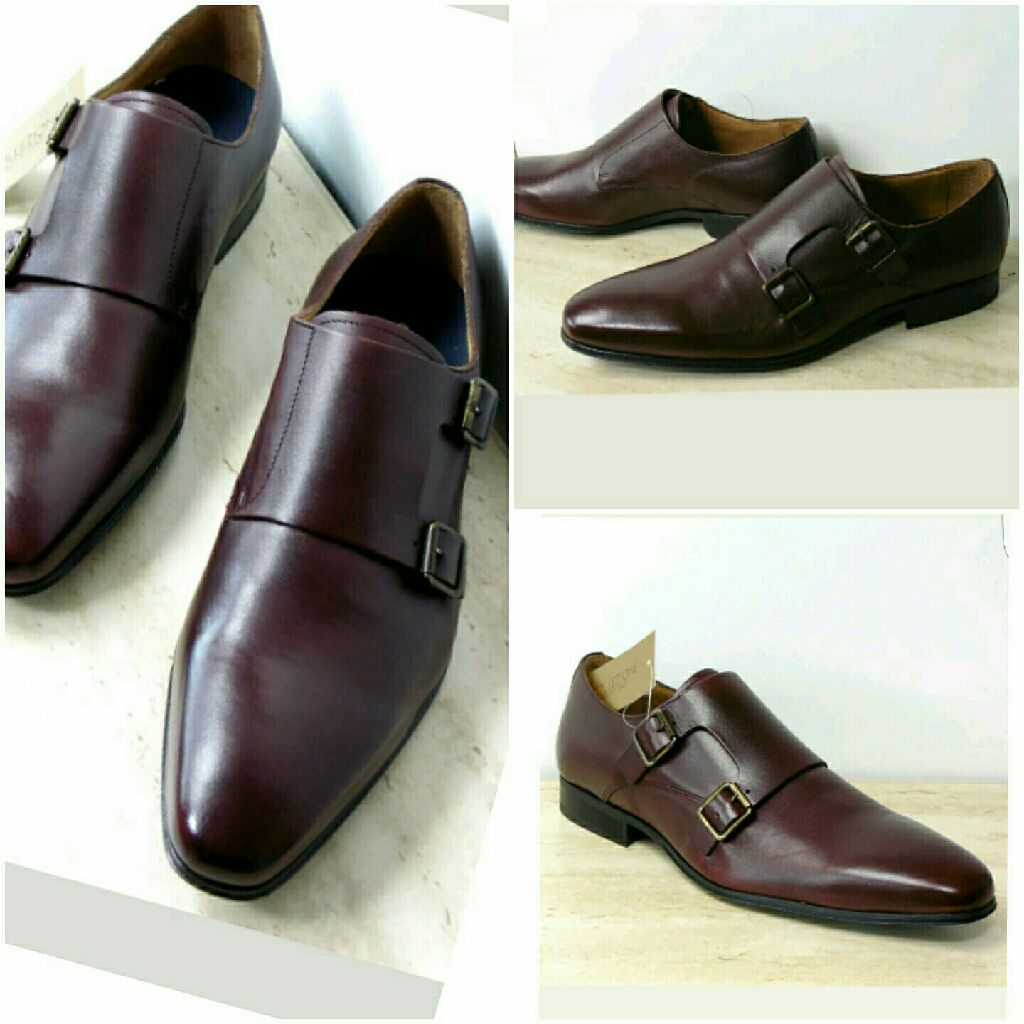 M&S Collezione Inspired by Italy Luxury Leather Double Monks Shoes