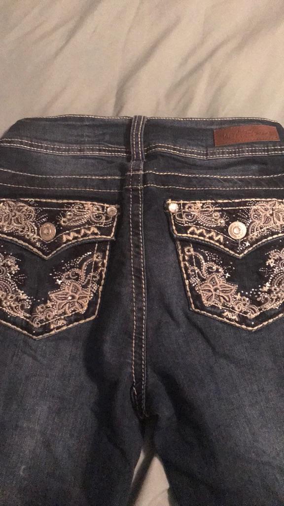 Wall flower jeans.
