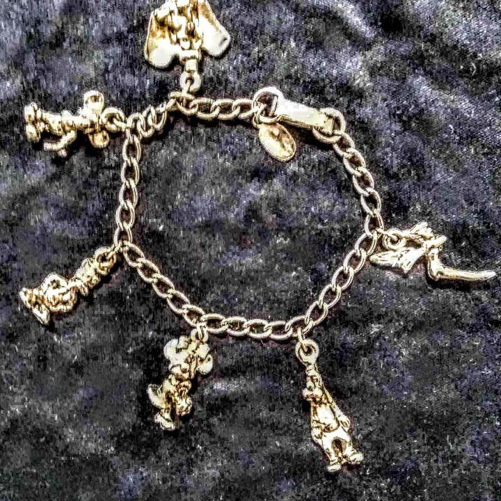 Vintage Disney Sterling Silver Charm Bracelet 1970s