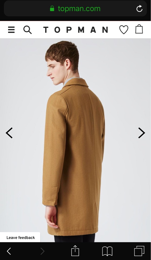 Camel Wool Rich Overcoat (M)