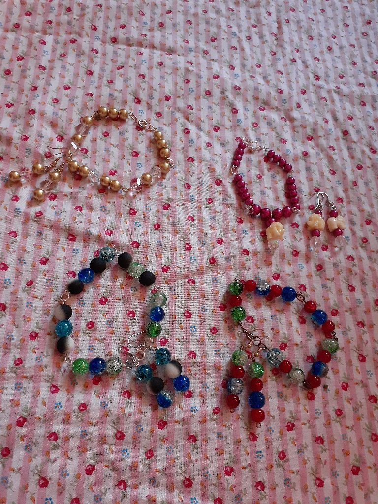 Handmade bracelets and earrings