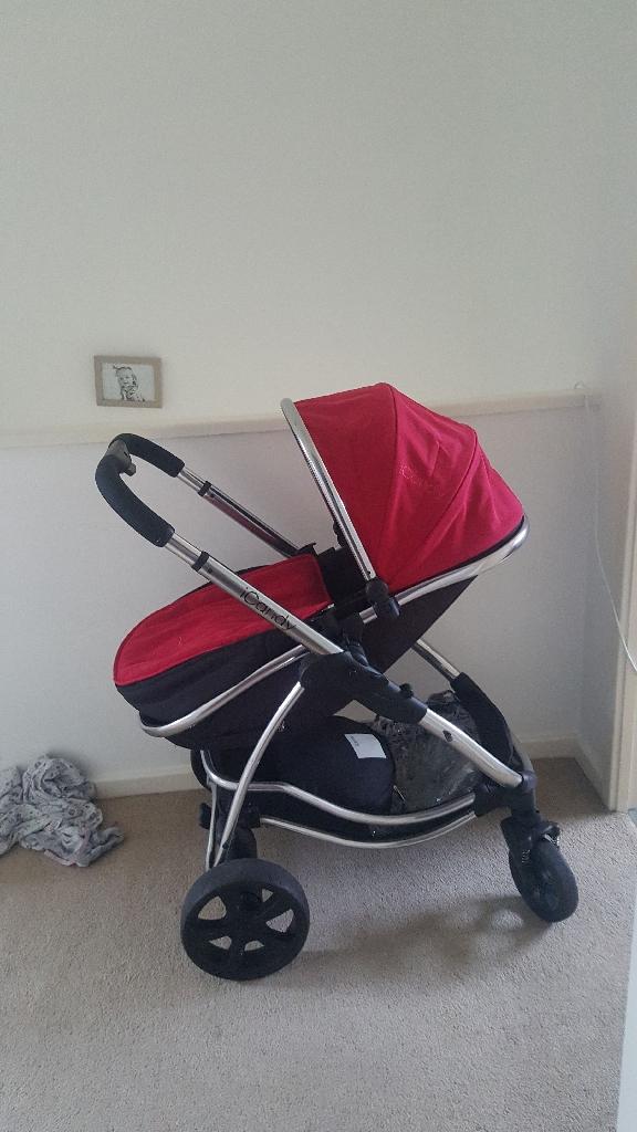 Icandy strawberry travel system pushchair/pram