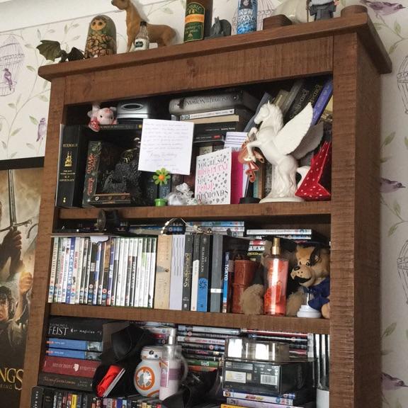 Dark oak book case