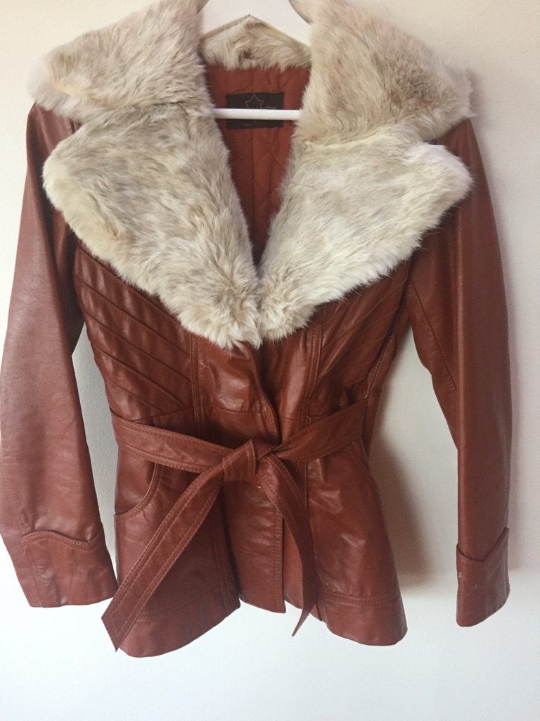 Vintage leather jacket, fits 0-6