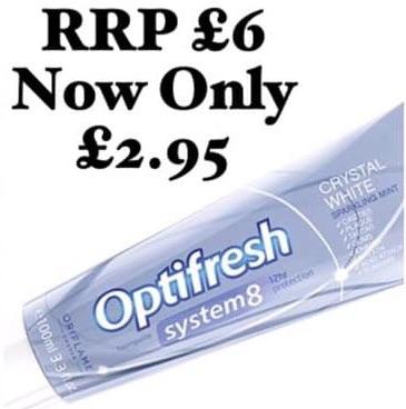 Optifresh Crystal White Toothpaste