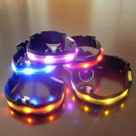 Glowing and Flashing LED Pet Collars