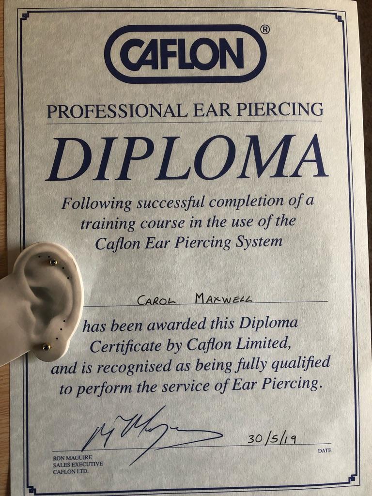 Ear piercing available