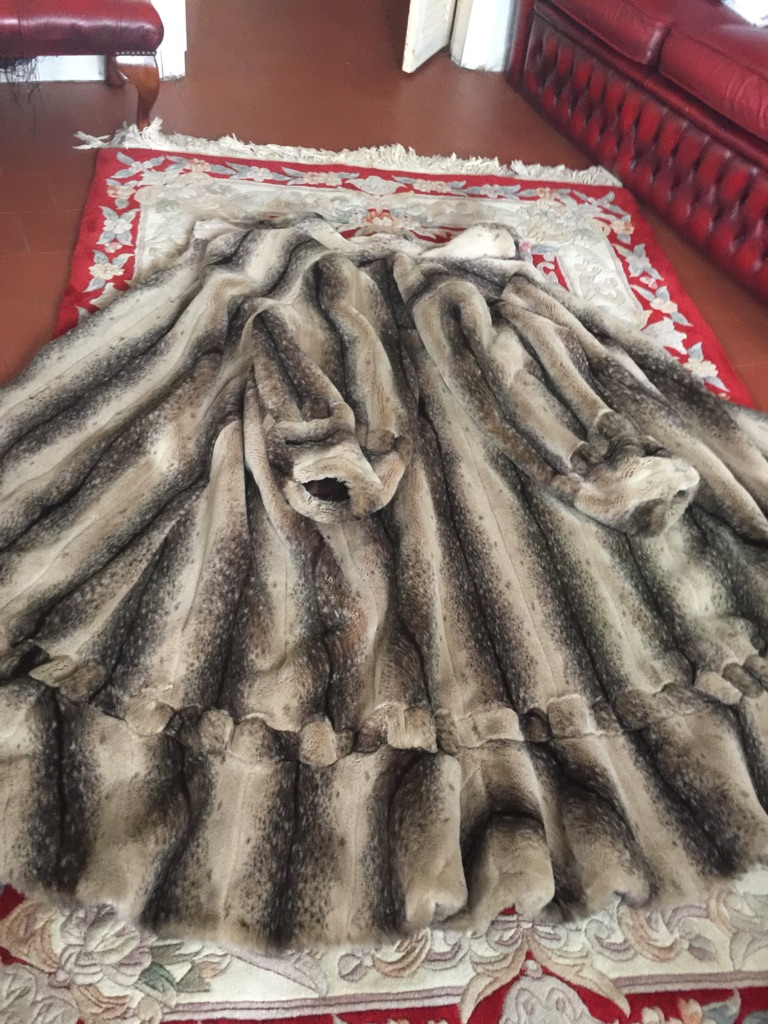Ladies Imitation Mink Coat Maxi Length One Of Kind. Very Original.