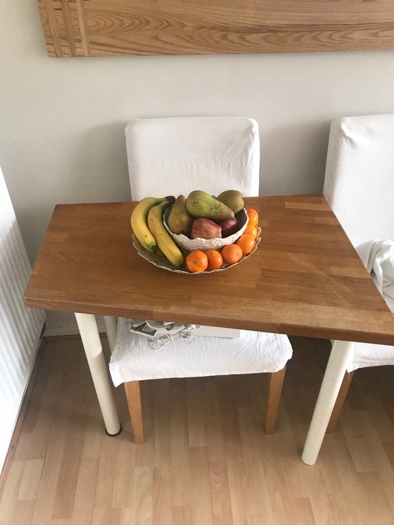 Custom made real solid oak table