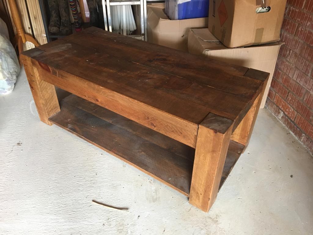Chunky Wood Coffee Table Village