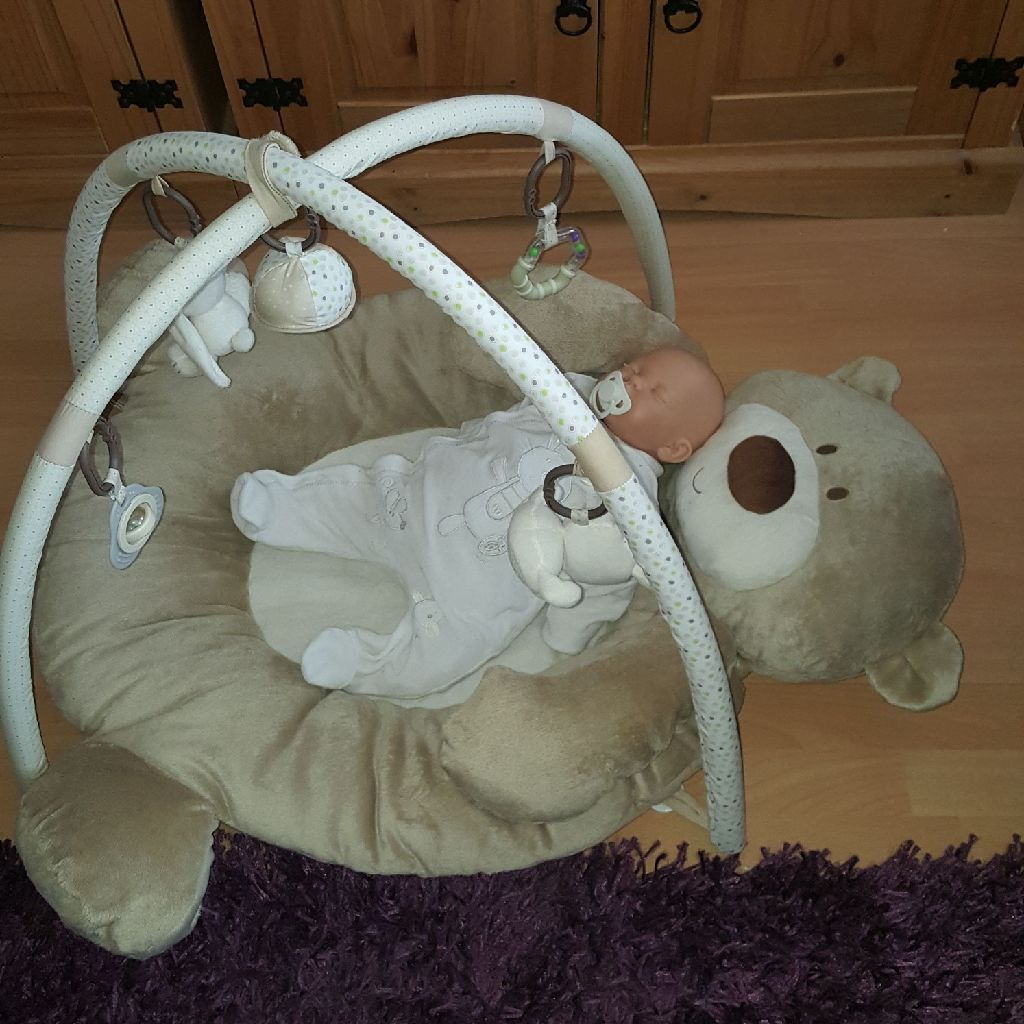 Mothercare Teddy play mat  & toy arch