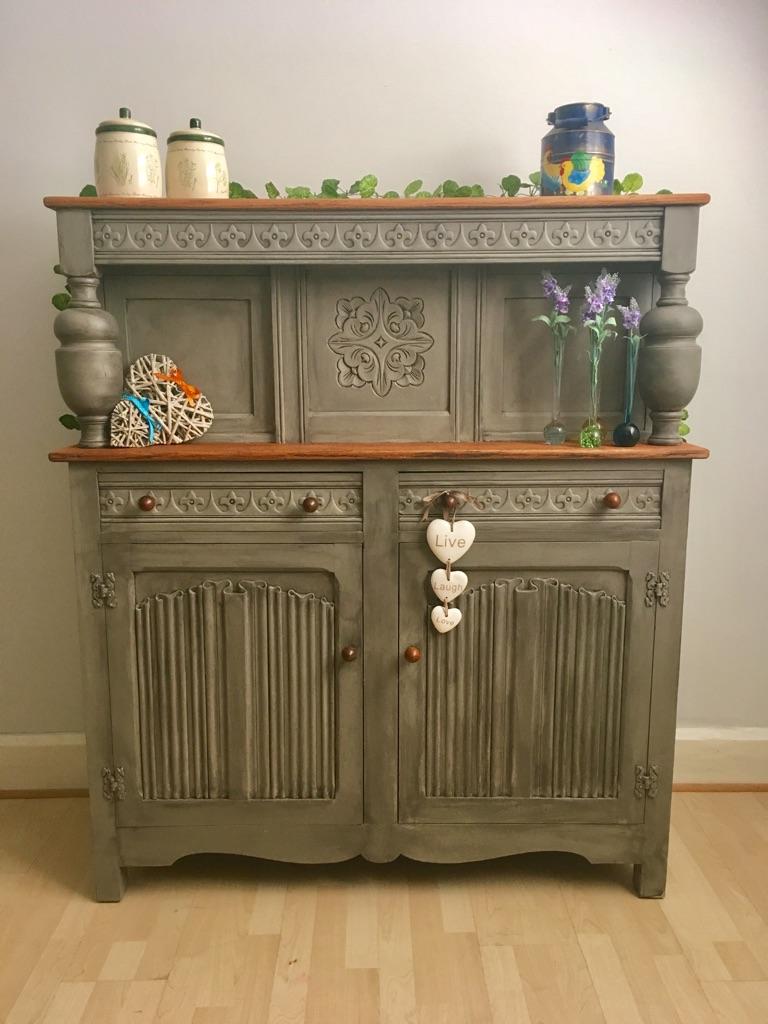 Unique vintage Court Cupboard Cabinet
