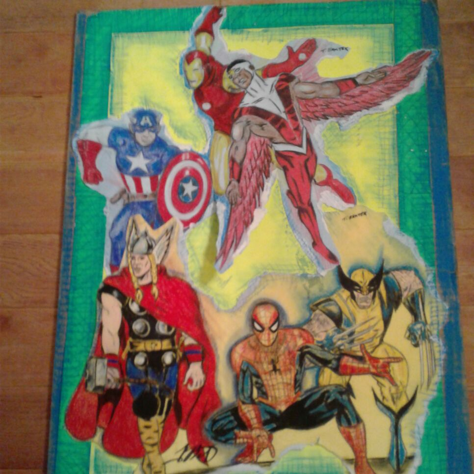 Marvel superhero drawing