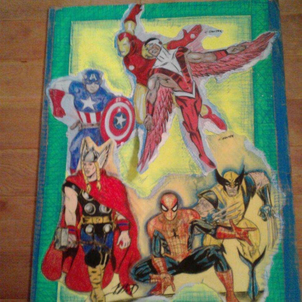 Marvel superhero drawing