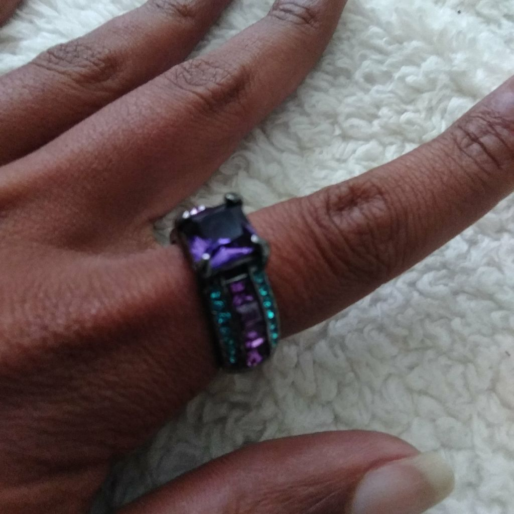 14kt Black Gold filled Ameythist Ring