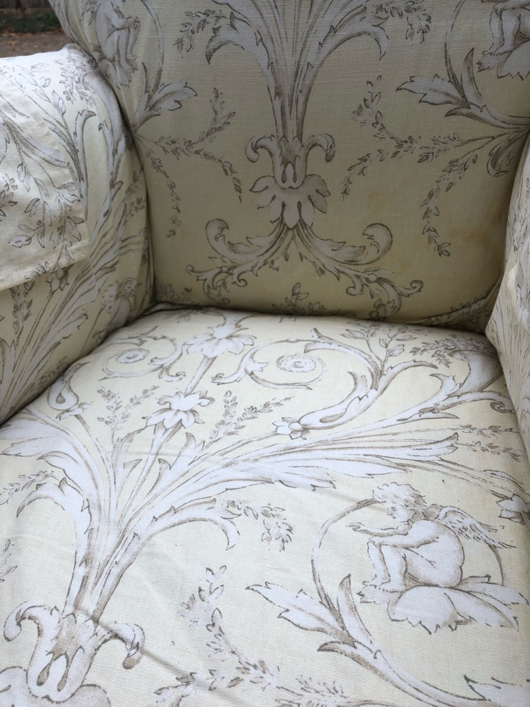 Shabby chic small armchair