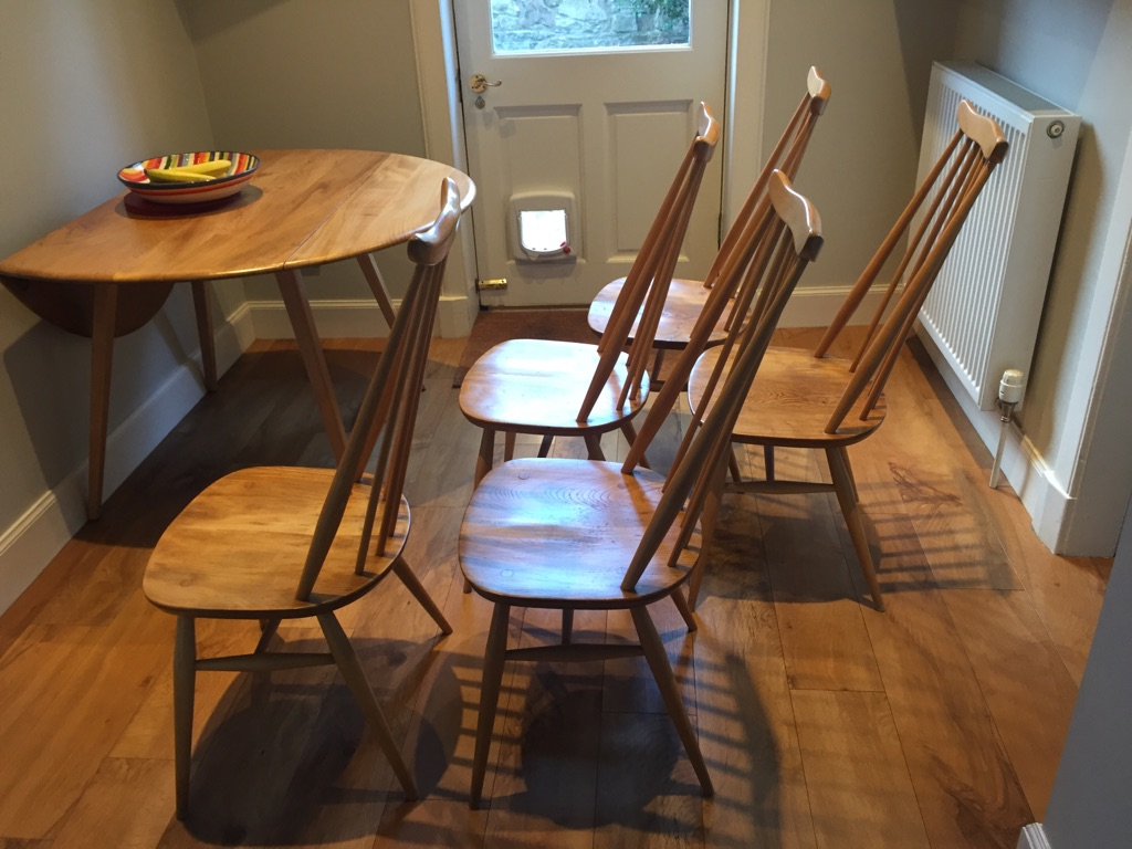 Five original Ercol Windsor Goldsmith chairs