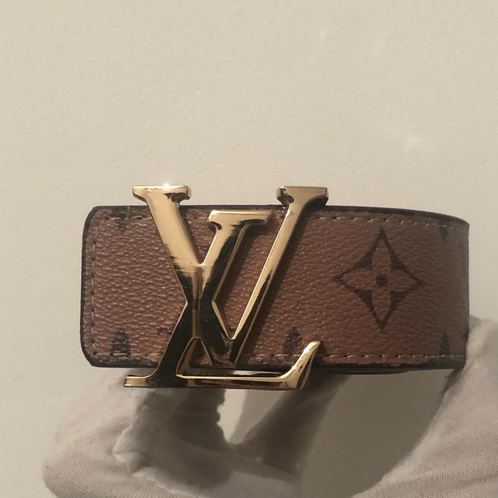 Tan men's belt