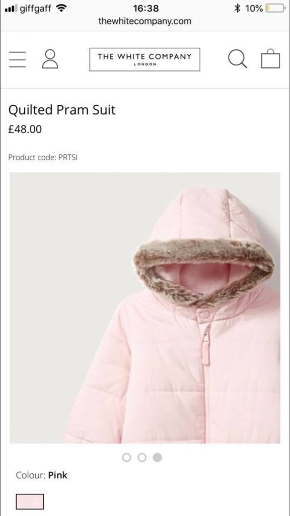 The white company pram suit