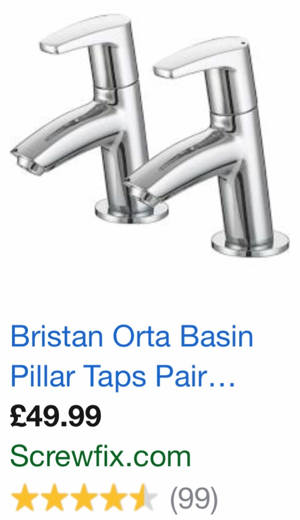 Basin sink taps