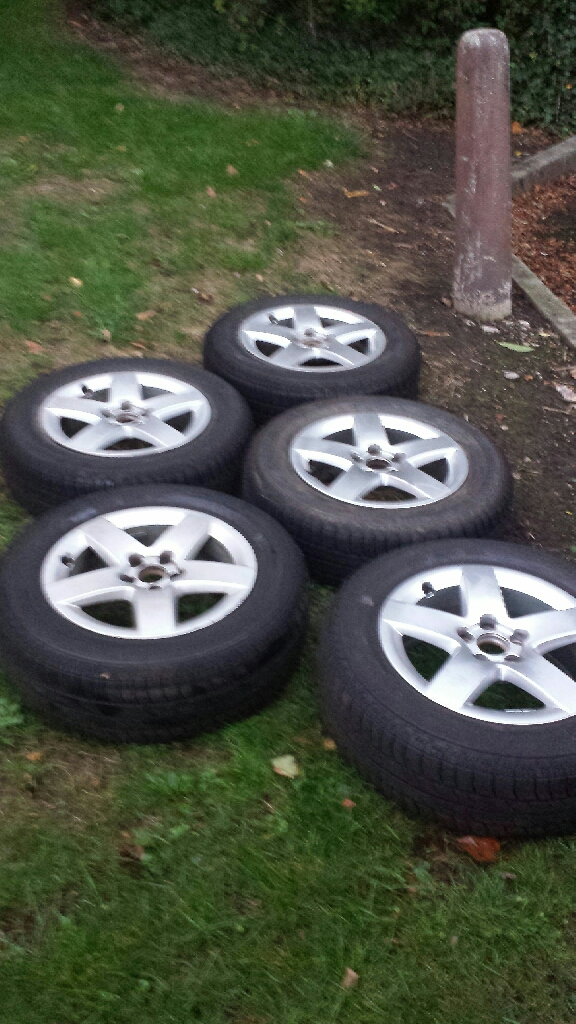 Alloy wheels set of five