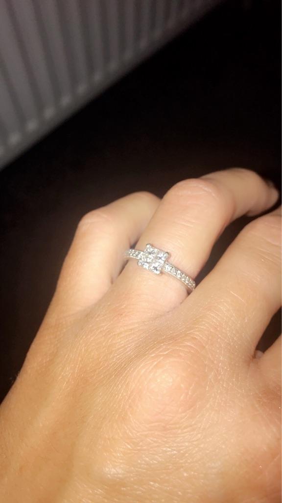Princess cut .60 carat diamond cluster ring
