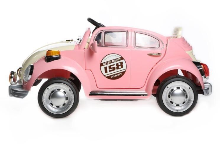 Retro Beetle Electric Ride On Car 12V - Pink