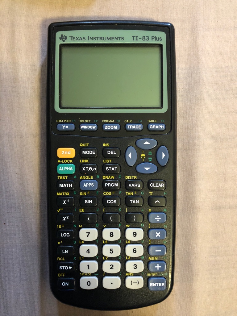 Texas Instruments TI - 83 Plus (with free batteries)