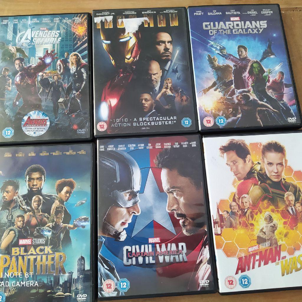 Bundle of 6 marvel DVDs