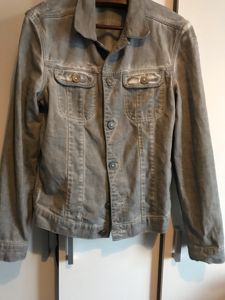 All Saints Men's Denim Jacket UK M Grey