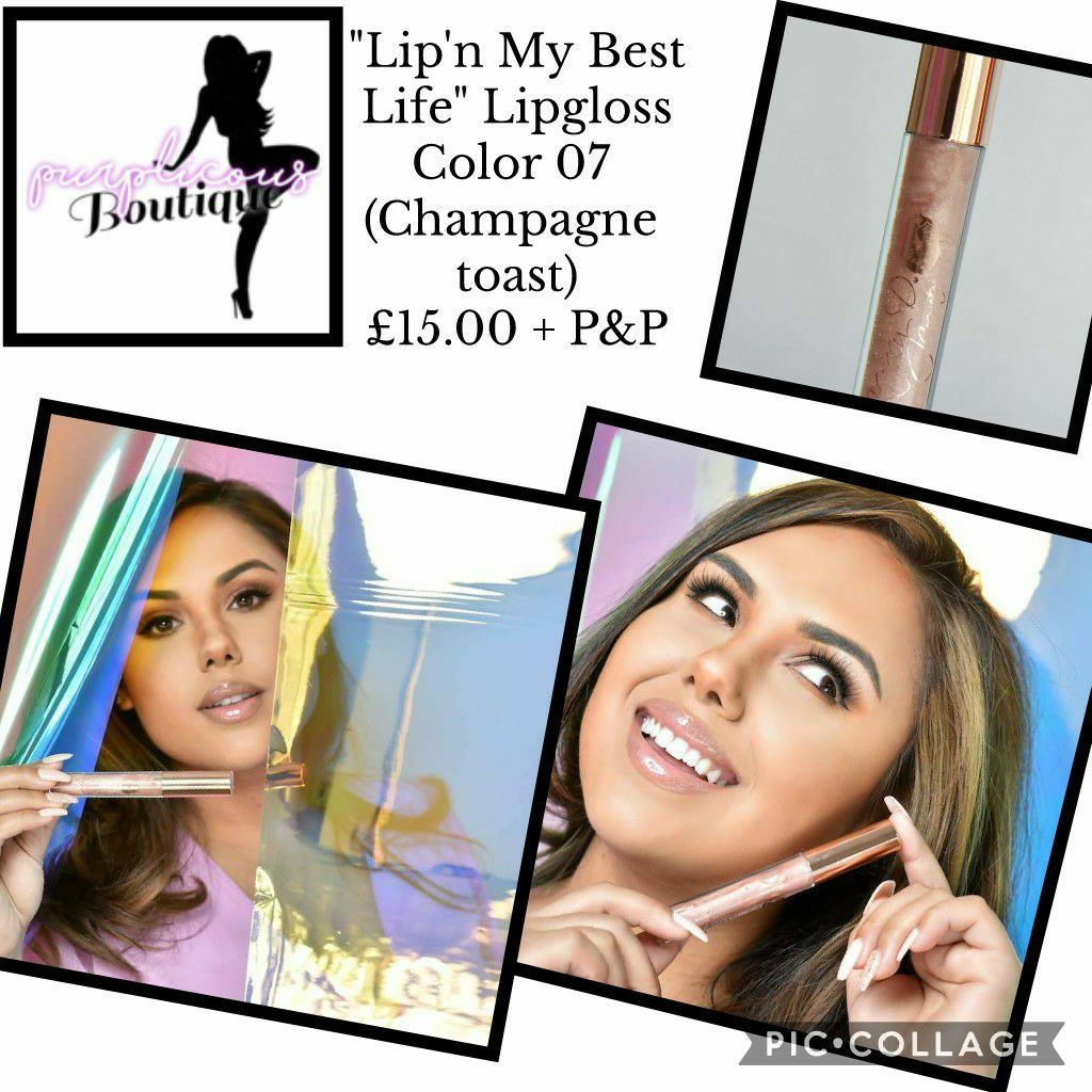 """""""Lip'n My Best Life"""" Lipgloss Color 07 (Champagne toast)"""