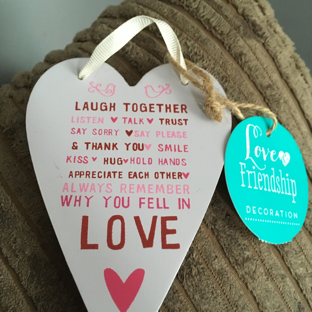 Love and friendship decoration