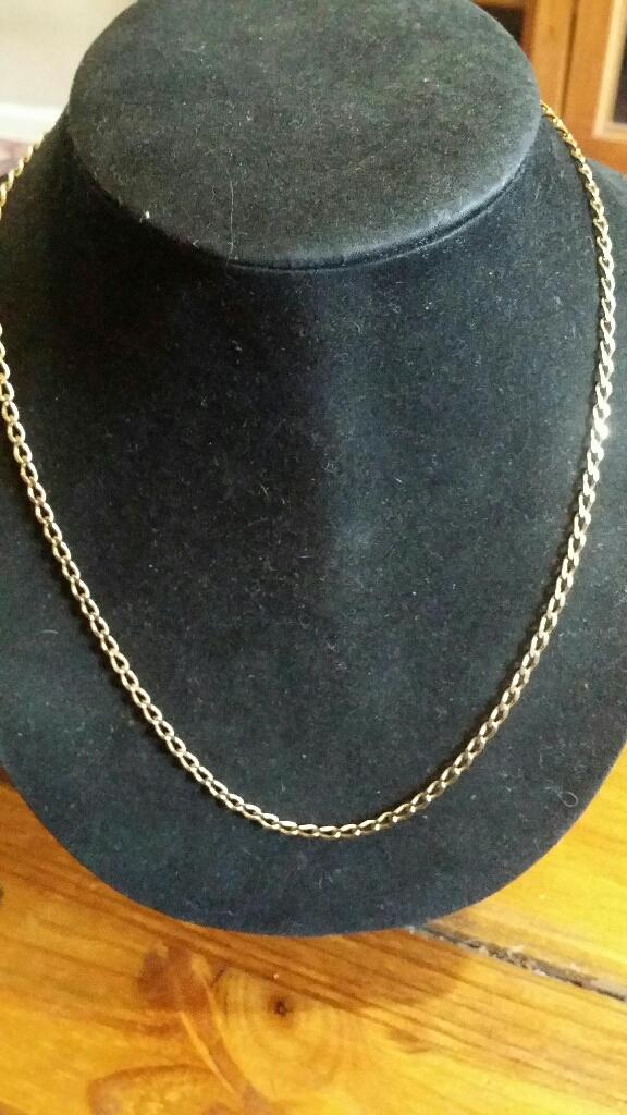"""9ct gold 20"""" Curb chain"""